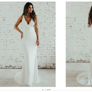 Paloma Plunge Back Trumpet Gown  NOEL AND JEAN BY